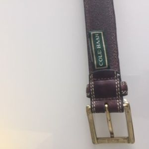 Cole Haan Men's Size 40 Brown Belt W Top Stitch